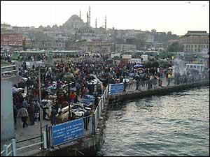 Istanbul open air market near Galata Bridge