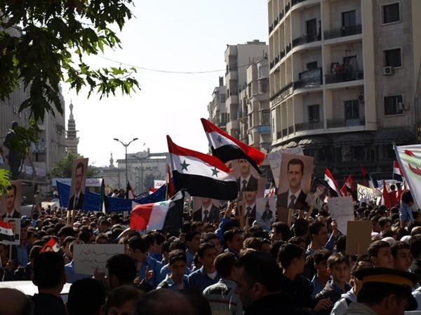 USA-Gegner demonstrieren in Damaskus