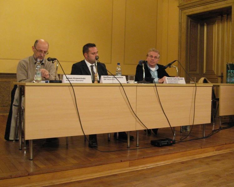 Adam Krzemiński und Daniel Cohn-Bendit