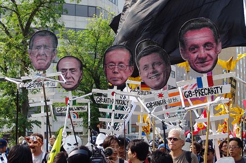 Globalisierung lässt sich nicht aufhalten, aber positiver gestalten (Protest beim G8-Gipfel in Japan, 2008)