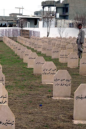 Graveyard in Halabja: Victims of Saddam Hussein's gas attacks.