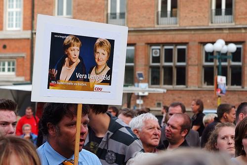 Einer der wenigen Aufhänger in diesem Wahlkampf: Das Wahlplakat von Vera Lengsfeld