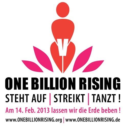 Das Motto von One Billion Rising lautet: Steht auf! Streikt! Tanzt!