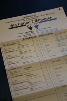 2013 ist die Zweitstimme wichtiger denn je: nach dem neuen Wahlrecht gibt es neben Überhang- auch Ausgleichsmandate