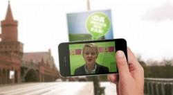Renate Künast grüßt von der Da-müssen-wir-ran-App der Berliner Grünen