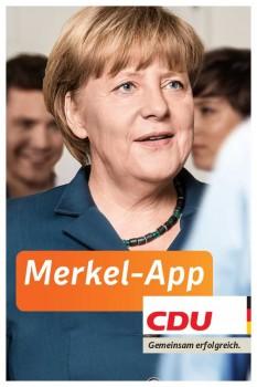 Die CDU wirbt im Bundestagswahlkampf mit der Merkel-App