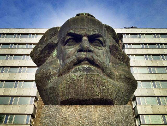 Die Ikone Marx aus sozialistischer Sicht: Statue in der ehemaligen Karl-Marx-Stadt Chemnitz