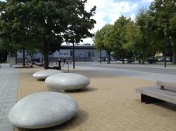 """Die neue """"Quartiersmitte"""" ist modern gestaltet."""