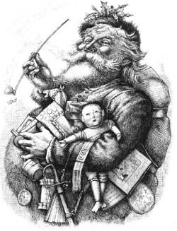 "Tomas Nasts ""Merry old Santa""-Holzschnitt, Harper's Weekly, 1881"