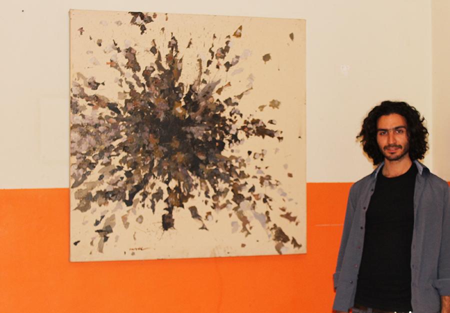 Eine von Imad Habbabs Arbeiten. Auch wenn er sich der Kunst der Moderne verschrieben hat, sind seine Arbeiten sehr vielseitig.