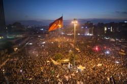 Proteste auf dem Taksim Platz - Juni 2013.