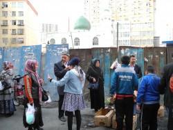 Szene aus Ürümqi im Mai 2014.