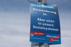 Fleißig Ressentiments bedienen: Wahlkampfplakat der AfD