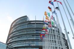 Das Europäische Parliament in Straßburg