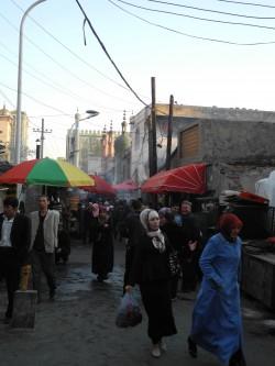 Muslimisches Viertel in Ürümqi im Mai 2014.