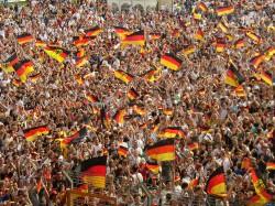WM 2006 Deutsche Fans in Bochum.