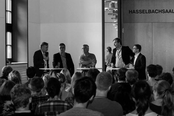 Podiumsdebatte - Prof. Renzsch, Soeren Herbst, Christian Heiko-Zache und Carlos Gebauer