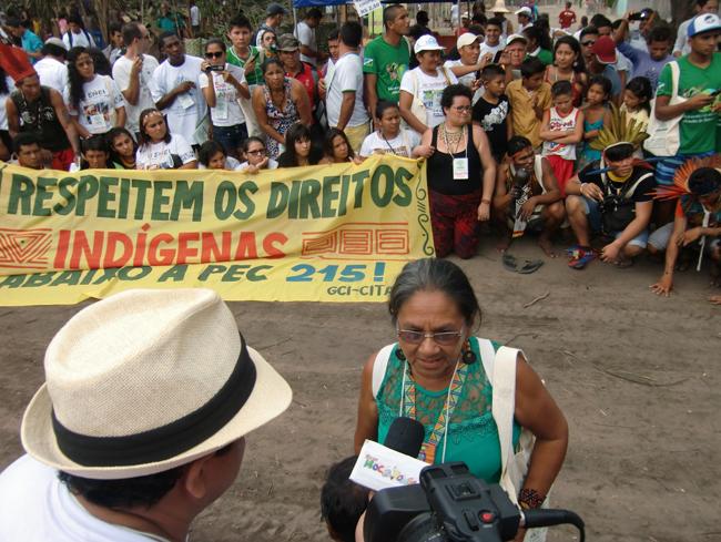 Kritische Stimmen kommen vor allem von Seiten der indigenen Bewegung.