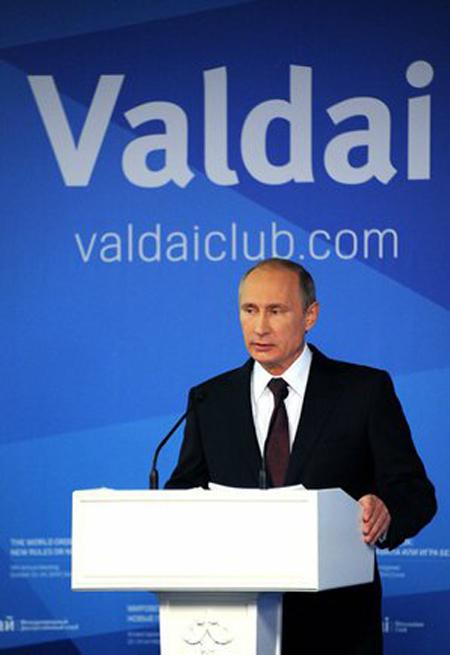 Wladimir Putin 2014 bei der Waldai-Konferenz