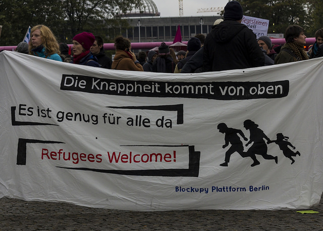 Refugee demonstration in Berlin 17.10.2015