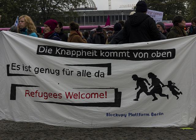 Refugee demonstration in Berlin 17.10.2015