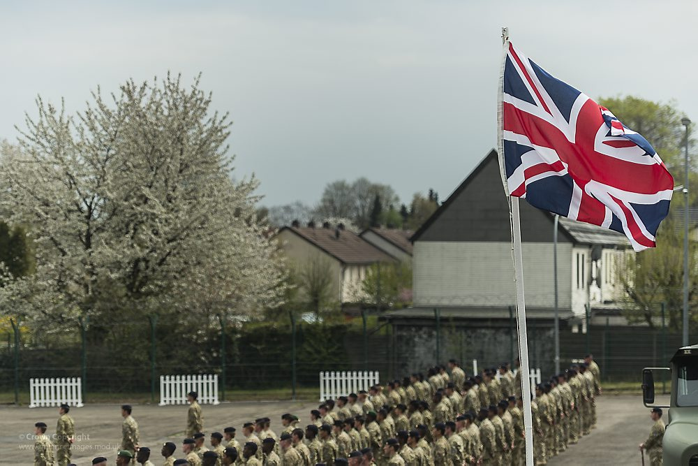 British parade at Bielefeld, Germany. 02.05.2013.
