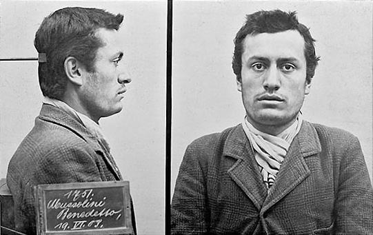 Mussolini - Polizeifoto 1903