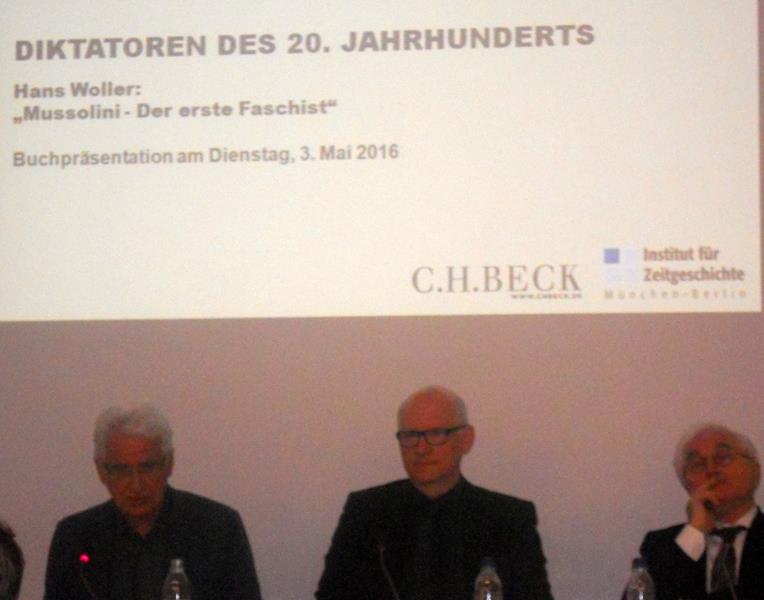 Hans Woller auf der Buchpräsentation am 3. Mai 2016