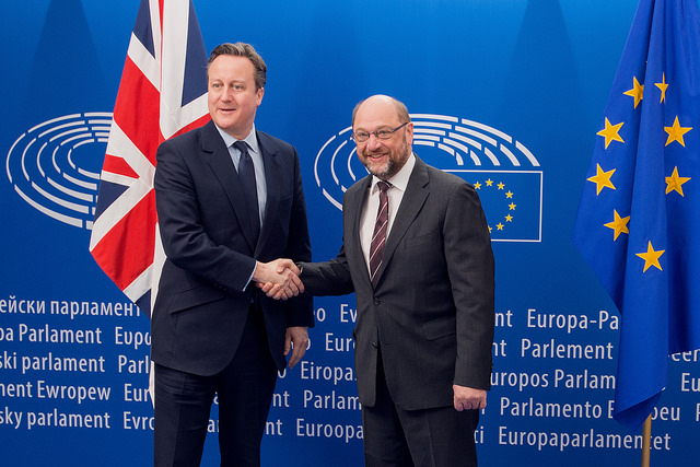 Cameron and Schulz at the european parliament