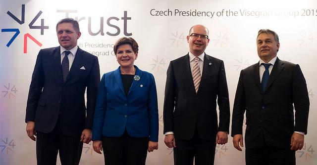 Die Ministerpräsidenten der Visegradstaaten 2015