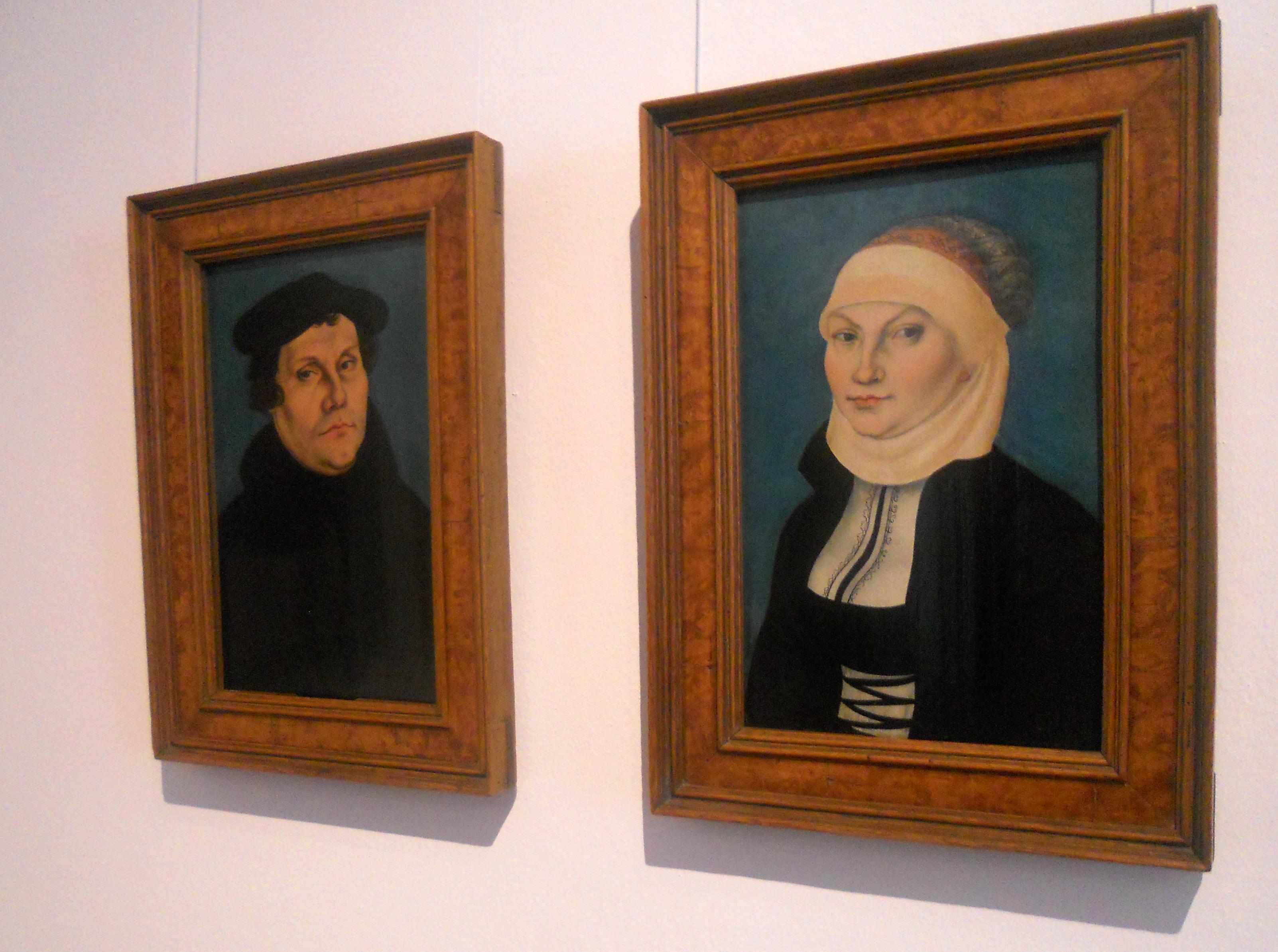 Gemälde von Luther und seiner Frau