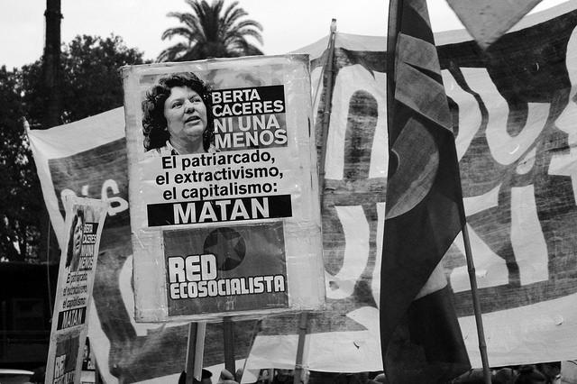 Demonstration für Beta Cáceres 2016