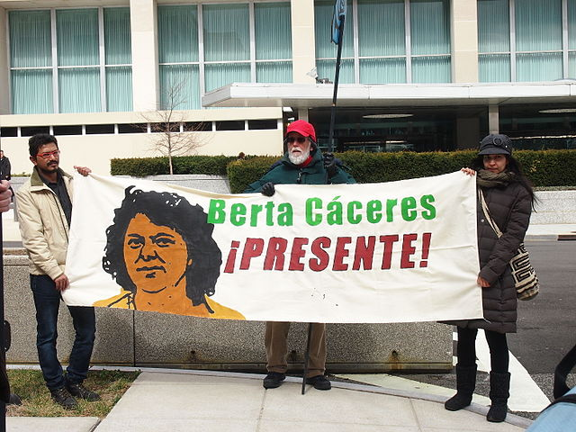 Demonstration für Berta Cáceres 2016 Washington