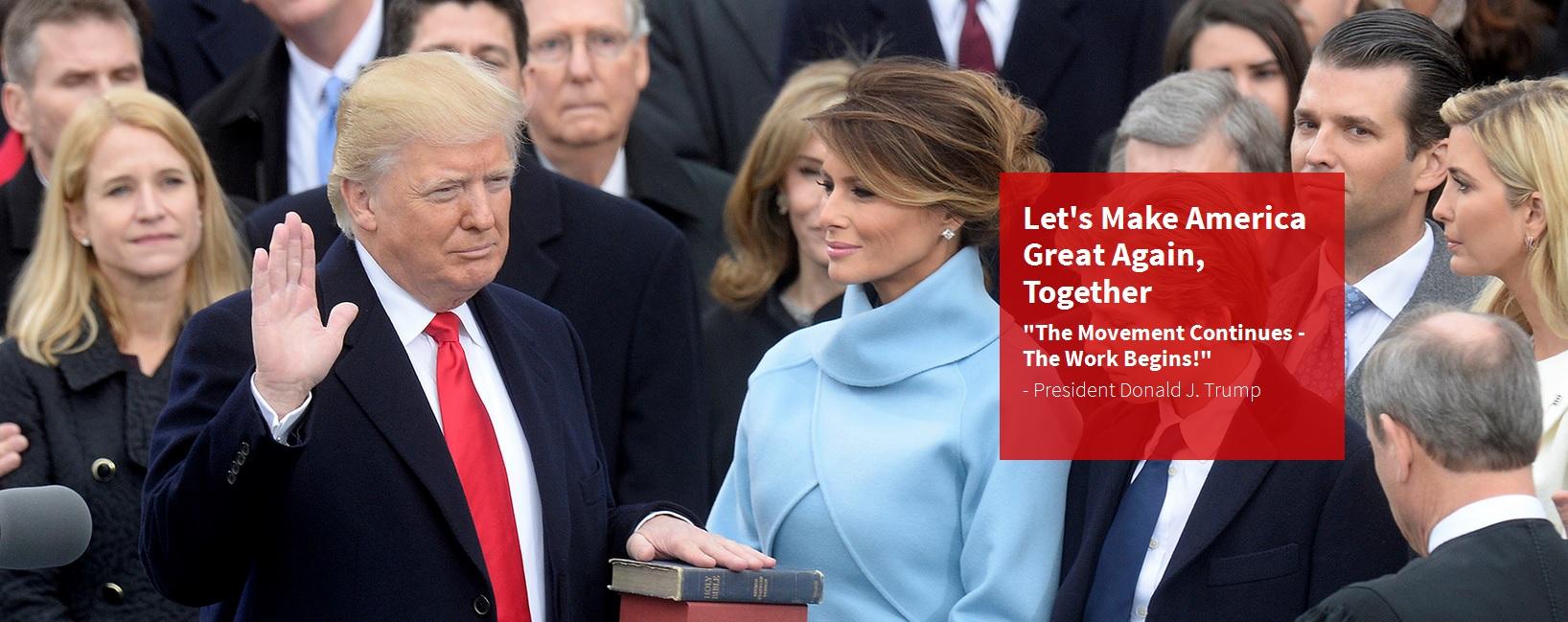 Donald Trump bei der Vereidigung zum Präsidenten am 20. Januar 2017.