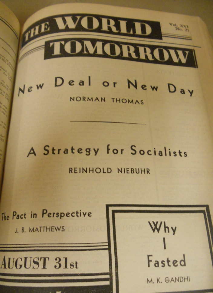 Niebuhr - The world tomorrow