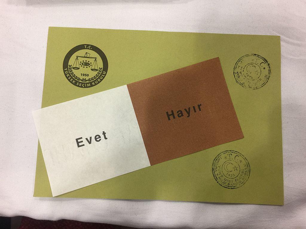 Wahlunterlagen Türkisches Verfassungsreferendum