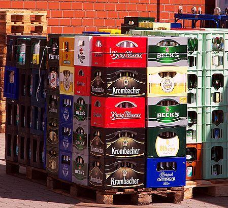 Pfandflaschen in Kisten